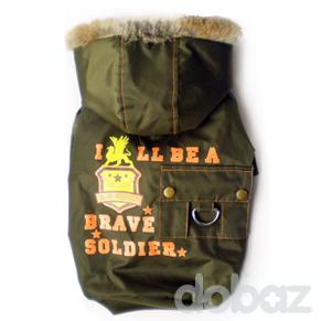 Hundjacka Soldier Grön