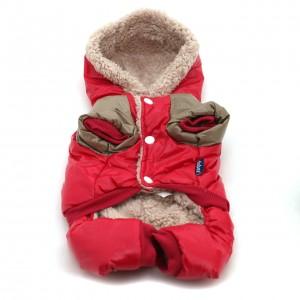 Vinteroverall röd o cappucino