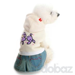 Hundklänning Pudel Vit