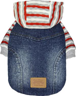 Jeansjacka med Hoodie