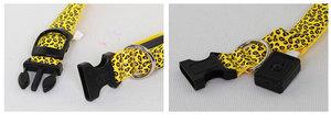 LED-halsband Cerise Leopard