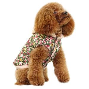 Hundjacka blommig med luva