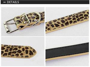 Läderhalsband Leopard