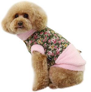 Hundjacka med blommor