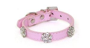 Halsband rosa med stenar
